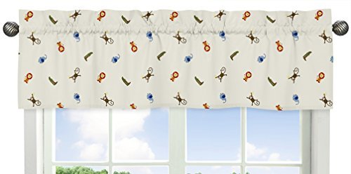 Sweet Jojo Designs Animal Print  Window Valance for Jungle Time Collection