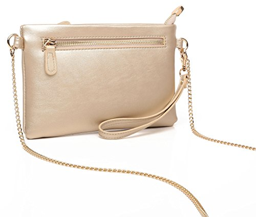 Aitbags Soft PU Leather Wristlet Clutch Crossbody Bag with Chain Strap Cell Phone Purse by Aitbags (Image #3)