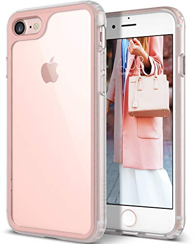 Caseology Coastline for Apple iPhone 8 Case (2017) / for iPhone 7 Case (2016) - Slim & Transparent - Pink
