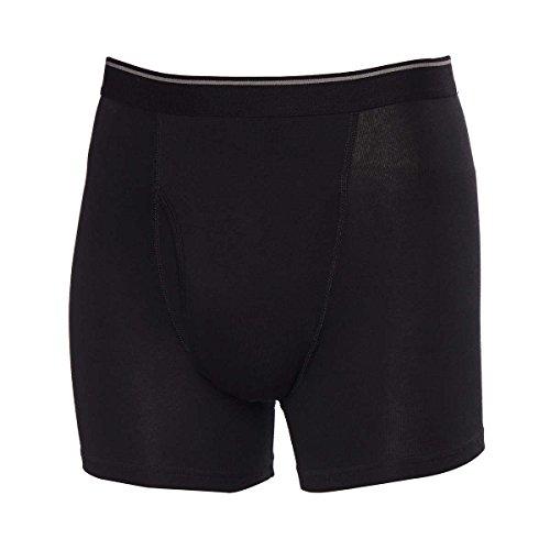 Kirkland Signature Stretch Cotton Boxer Briefs Comfort Fit, Black/Gray, Medium