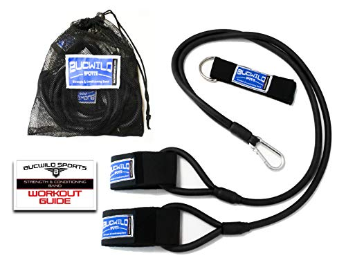 Bucwild Sports Baseball Resistance Bands for Youth & Adult Athletes - Safely Improve Pitching Throwing Batting & Arm Strength Used by Pitchers Quarterbacks Volleyball Basketball & Softball Players