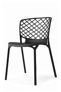 Nr 2 Gamera Chair by Calligaris - Matt Black Nylon