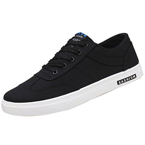 tendenza YaNanHome Red casual coreano traspiranti scarpe uomo Color scarpe stile stile 40 scarpe scarpe di Nuove Size da Black maschile tela 1qT1r8w