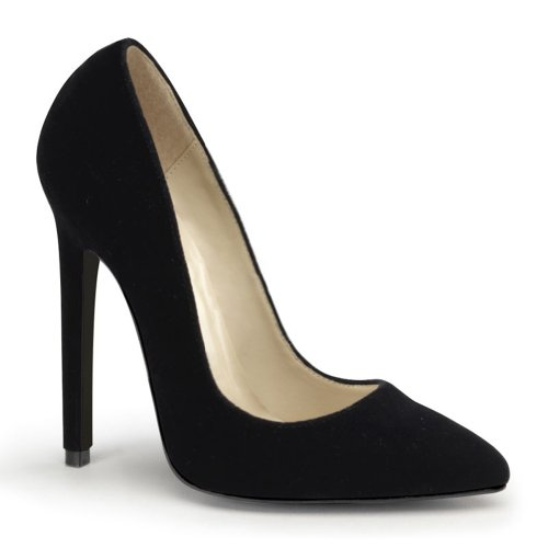 3f461ea1c3a 5 Inch High Heel Dress Shoes Black Velvet Pumps Women s Sexy Shoes Size  9  - Buy Online in UAE.