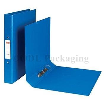 A4 Archivadores De Plástico 25 mm, 2 anillas, color azul paquete de 30: Amazon.es: Oficina y papelería