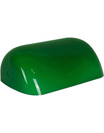 a3855a4f1c5 Newrays Reemplazo de la tapa de la lámpara de los banqueros de vidrio verde  para la