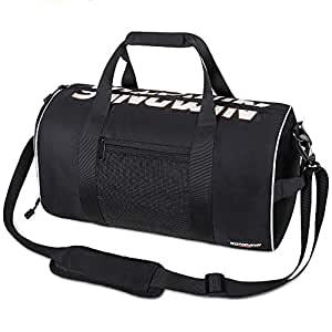 Gym Bag with Shoes Compartment, Dry Wet Separation Layer, Foldable Waterproof Travel Duffle Bag for Women & Men, Lightweight Sport Bag