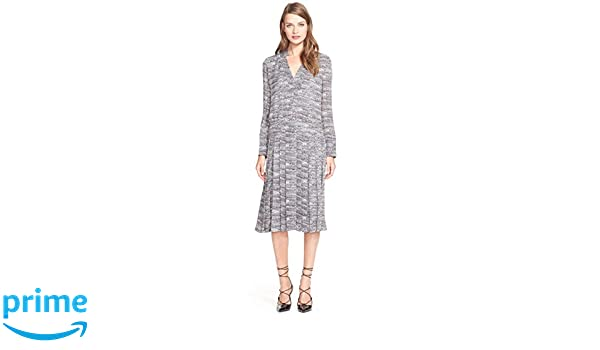 b9486f63 Tory Burch Women's Marble Print Silk Midi Dress In Tory Navy Marble B Size  12 at Amazon Women's Clothing store: