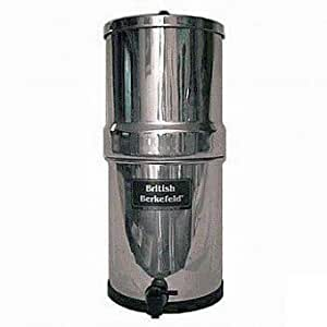 """British Berkefeld Water Filter with 2 7"""" Ceramic Filters and 2 PF-4 Fluoride Filters"""