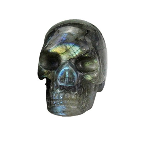 JRT Natural Amethyst Carved Realistic Crystal Skull Sculpture, Healing Energy Reiki Gemstone Collectible Figurine,Crystal Healing Skull -