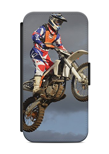 iPhone 6 6s Motocross Cross Flip Tasche Hülle Case Cover Schutz Handy