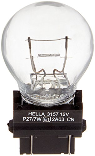 HELLA 3157TB Twin Blister Standard Miniature 3157 Bulbs, 12V, 27/7W, 2 Pack