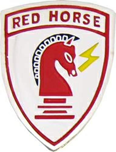 - US Air Force Civil Engineer Red Horse Lapel Pin or Hat Pin (1 1/4