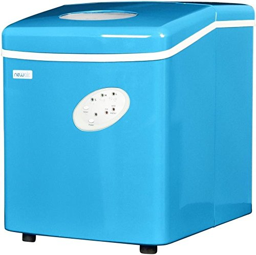 Blue Countertop Mini Compact Portable Ice Cube Maker Machine