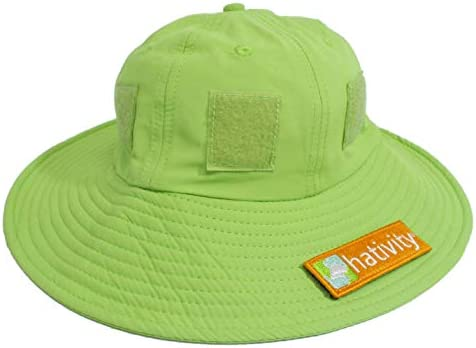 Patches Sold Separately Wide Brim Hativity Kids Boy Girl UPF 50+ Best Interactive Sun Hat Sun Protective Breathable
