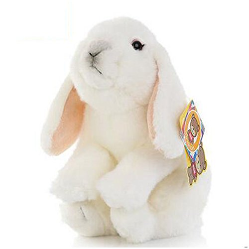 Lop Eared Bunny (WuKong 7'' Toy Gift Sets Simulation Small White Rabbit Plush Toys Long Ear Dolls (White))