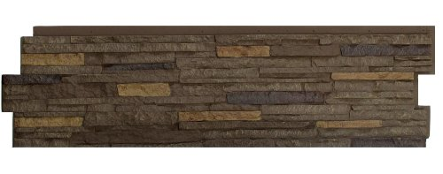 NextStone Stacked Stone Panel Walnut Brown 5 Panels Per Box 1815 SqFt Per Box