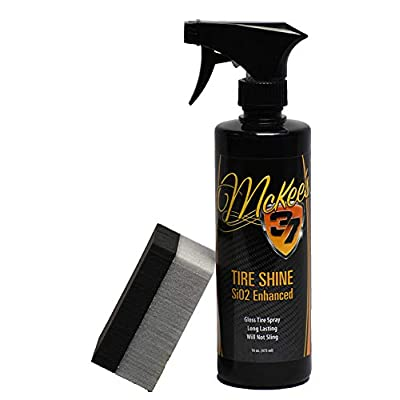 McKee's 37 MK37-830 Tire Shine SiO2 Enhanced (High Gloss Tire Shine with Premium Sponge), 16 fl. oz: Automotive