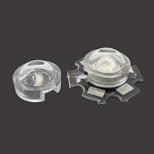 Kamas tools - 10pcs 13mm Mini LED Lens 15 30 45 60 90 100 Degree for IR CCTV LED PCB Convex Lenses With Holder 1W 3W 3W High Power Led - (Body Color: 45 degree) ()