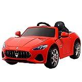 Uenjoy Maserati Grancabrio 12V Electric Kids Ride On Cars Motorized Vehicles W/Remote Control, Suspension, Mp3 Player, Light, Red