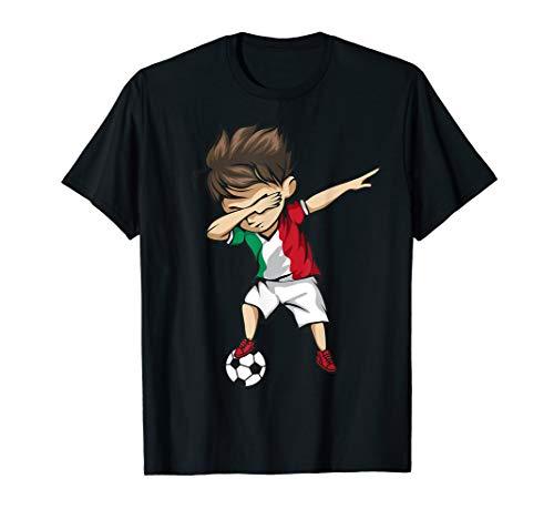 Dabbing Soccer Boy Italy Jersey Shirt - Italian Football