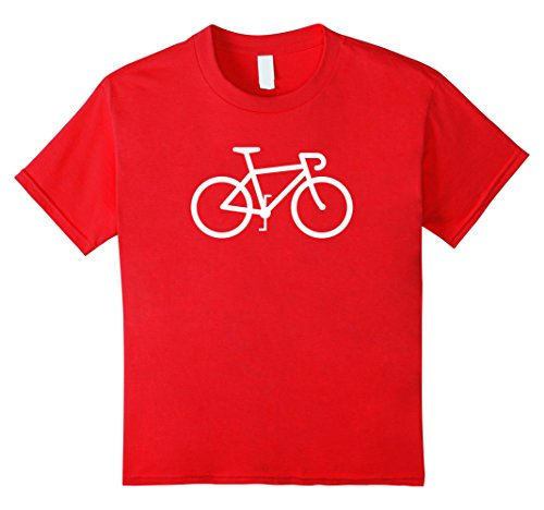 [Kids Road Bike Icon Speed Racing Sports Cyclist T-shirt 4 Red] (Toddler Girl Racer Costume)