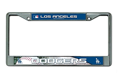 Los Angeles Dodgers Metal Chrome License Plate Frame Auto Truck Car Rico Industries ()