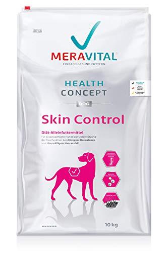 MERAVITAL Skin Control Hundefutter trocken 10 kg für Hunde mit Hauterkrankungen & Futtermittelallergien mit Rezeptur aus…