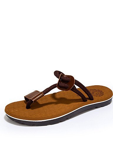 ShangYi Herren Sandaletten Herrenschuhe - Outddor / Lässig - Sandalen / Flip-Flops - Stoff - Schwarz / Rot / Khaki Black