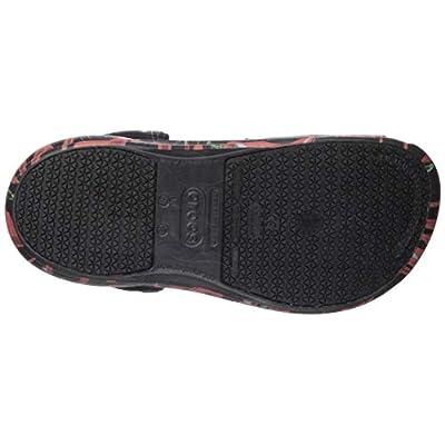 Crocs Unisex Bistro Work Clog, black/red, 13 US Men/ 15 US Women M US | Mules & Clogs