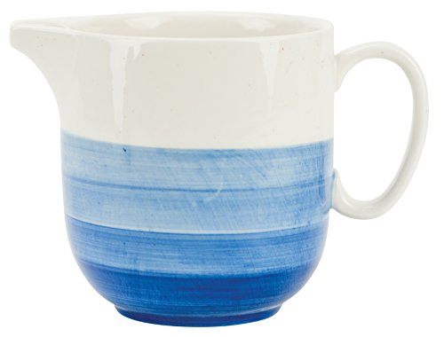 Boston Warehouse 38804 Reactive Glaze Pitcher, 44 Ounce, Blue