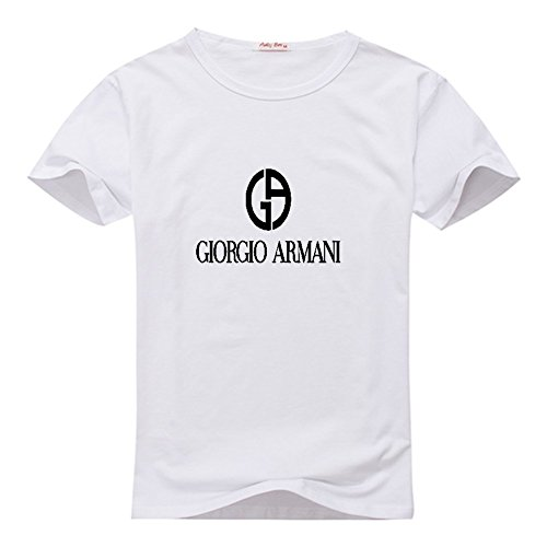 Giorgio Armani Men s Classic Logo Short Sleeve Graphic T-Shirt Medium White 0024dc5b278