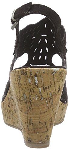 Marco Tozzi 28364 - Sandalias de vestir de lona para mujer Negro - negro