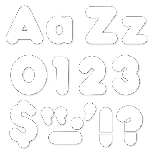 Trend Enterprises White 4-Inch Casual Uppercase/Lowercase Combo Pack Ready Letters (T-79905)