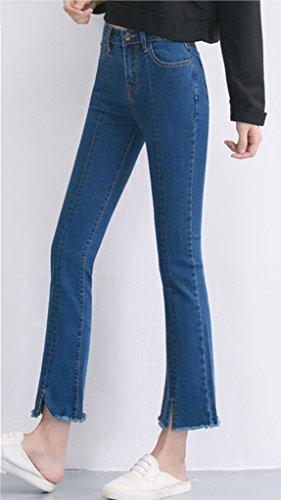 Flare Jeans Homieco™ Irregolare Vita Blu Vintage Donne Alto AA4YZX