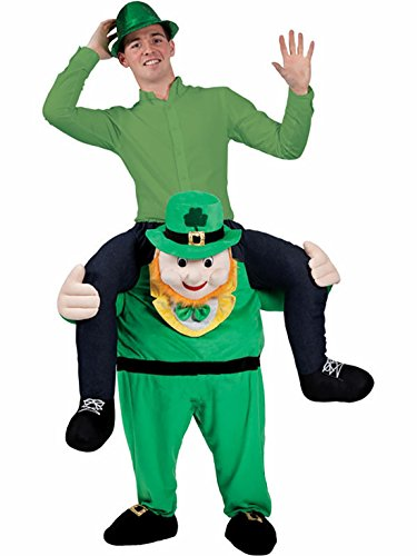 [Carry Me Ride on Riding Shoulder Adult Costume Easter Mascot Pants-Green man] (Carry Me Ride On Costume)