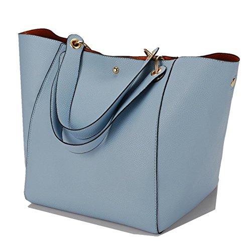 bandoulière YAAGLE qualité Cuir sac Bleu bonne Simili main Clair à xgCwtW6qrg