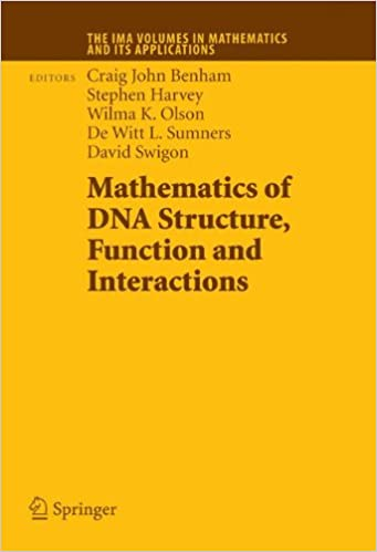 mathematics of dna structure function and interactions swigon david harvey stephen sumners de witt benham craig john olson wilma k