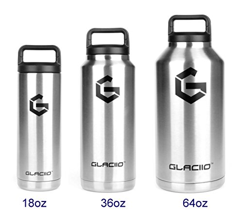 Vacuum Insulated Stainless Steel Water Bottle and Beer Growler, Wide Mouth Thermos with Spill Proof Cap, Double Walled for Hot & Cold Beverages, Compare to Yeti and RTIC 64 oz