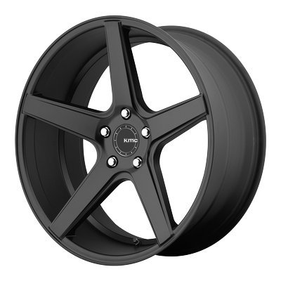 One KMC Satin Black KM685 District Wheel/Rim - 19x8.5 - 5x114.3 - +35mm ()