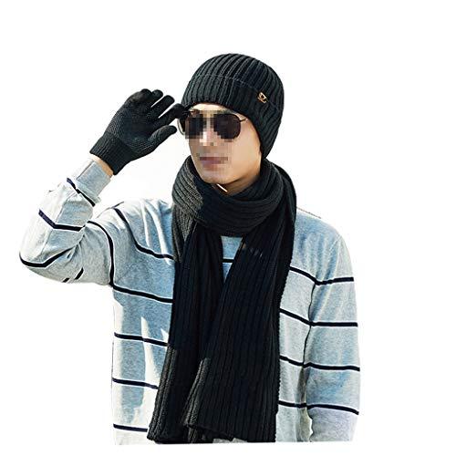 Punto Tapa E Guantes De D Libre Movimiento Gorros Djmzab Hombre Bufanda Juventud Aire Sombrero Invierno Al sombrero color wXqaP