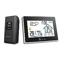 DIGOO - Estaciones Meteorológicas con sensor de exterior, con pantalla táctil y monitor de humedad