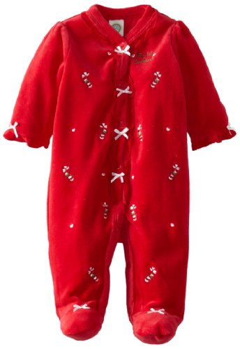 Red Candy Cane Pajama Sleeper for Babies
