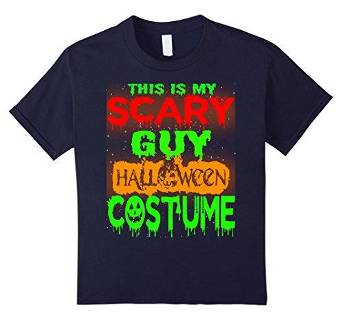 Badass Guy Costumes (Kids Halloween Gift This is my Scary GUY Halloween costume Shirt 12 Navy)