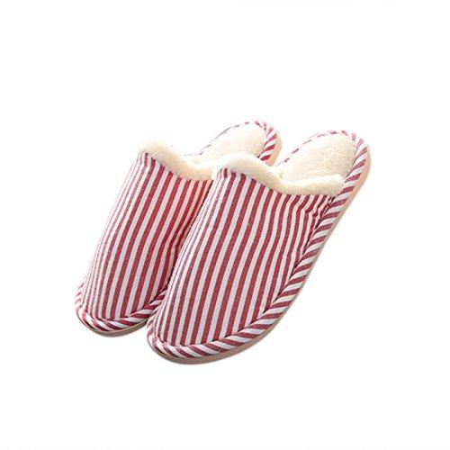 En Zantec Rouge Confortables Femme Coton Pour Chaussons Antidérapants Et Souples 41 40 Premium EERqa