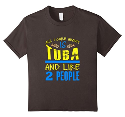 [Kids FUNNY CARE ABOUT TUBA AND LIKE 2 PEOPLE T-SHIRT Band Gift 12 Asphalt] (2 Person Halloween Costumes For Kids)
