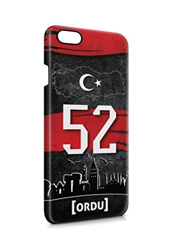 3D iPhone 6 PLUS 6s PLUS Ordu 52 Plaka Türkiye Hard Tasche Flip Hülle Case Cover Schutz Handy