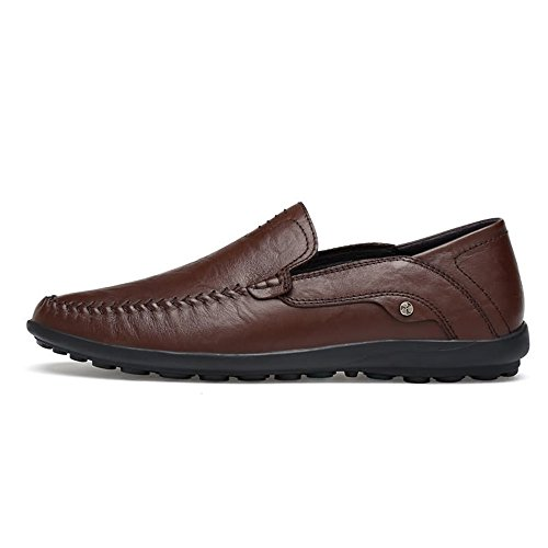 da con in shoes Color fodera Dimensione Mocassini Hollywood Meimei EU scuro pelle leggeri stile Marrone 40 uomo wqtn1PX0