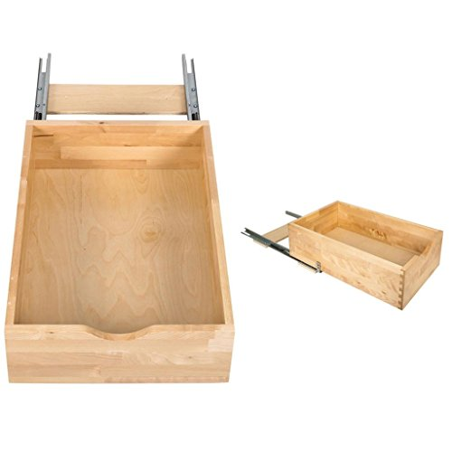 Hardware Resources RO18-WB Preassembled Rollout Shelf System, White Birch by Hardware Resources