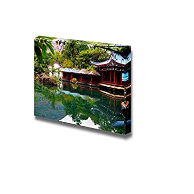 Unbelievable Portrait, Beautiful Scenery Landscape The Scene of The Chinese Garden Wall Decor, Made For You